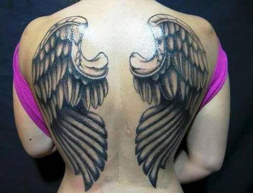 Большие крылья во всю спину
