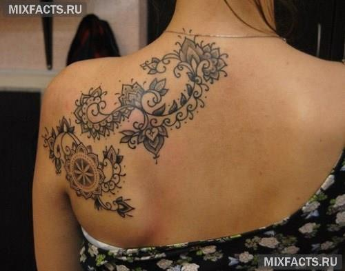 Татуировки для девушек на лопатке